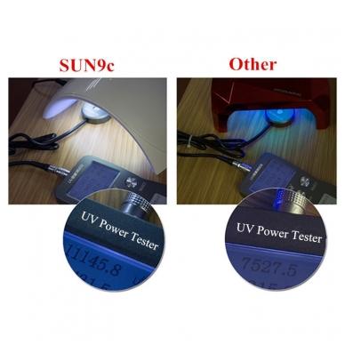 24W hibridinė UV LED lempa nagams SUN9C 10