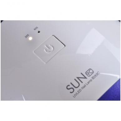 24W hibridinė UV LED lempa nagams SUN9C 5