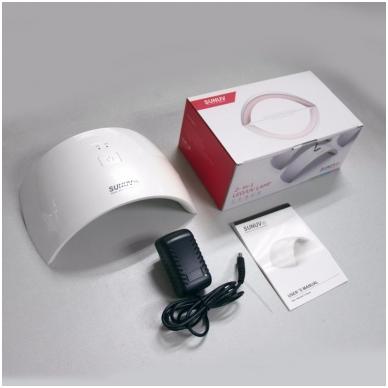 24W hibridinė UV LED lempa nagams SUN9C 7