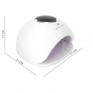 48W UV LED hibridinė lempa nagams Star5, baltos sp. 2