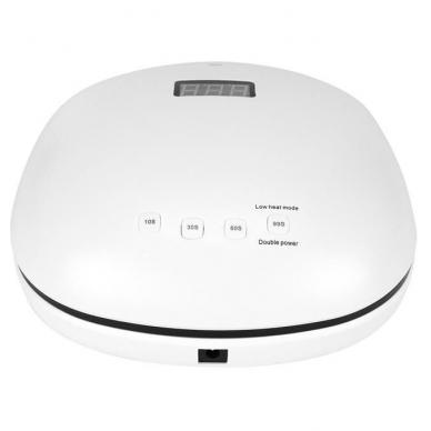 48W UV LED hibridinė lempa nagams SUN4, baltos sp. 6