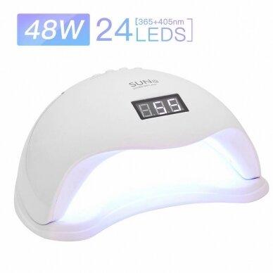 48W UV LED hibridinė lempa nagams SUN5 2
