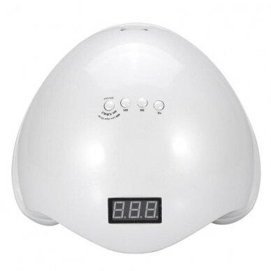 48W UV LED hibridinė lempa nagams SUN5, baltos sp. 3