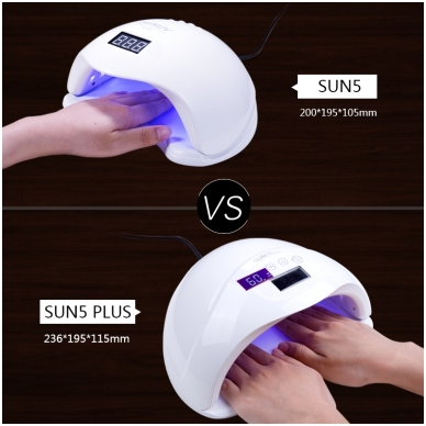 48W UVLED hibridinė lempa nagams Sun5 Plus, baltos sp. 9