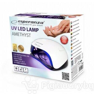 54W UV LED hibridinė lempa nagams ESPERANZA AMETHYST 4