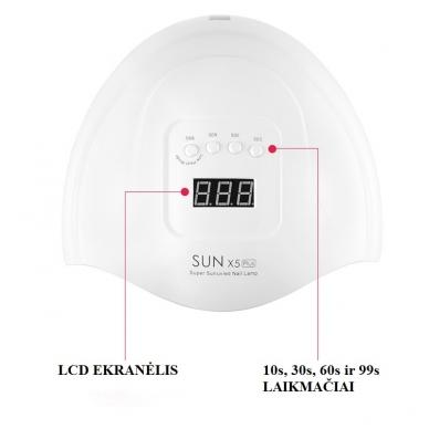 54W UV LED hibridinė lempa nagams SUN x5 Plus 6