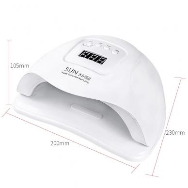 54W UV LED hibridinė lempa nagams SUN x5 Plus 7