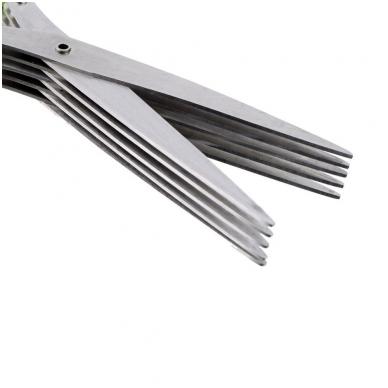 5 ašmenų nerūdijančio plieno žirklės prieskoniams 3