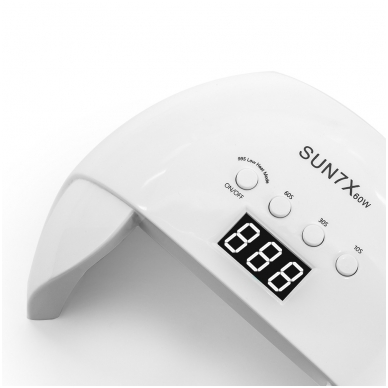 60W UV/LED hibridinė lempa nagams SUN7X, baltos sp. 6
