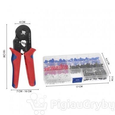Antgalių užspaudimo replės 175 mm – rinkinys 9