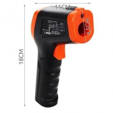 Bekontaktis infraraudonųjų spindulių termometras DT-8550 10