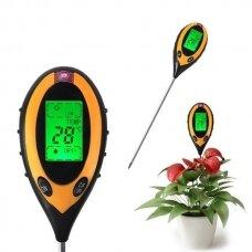 Dirvožemio Ph, temperatūros, drėgmės ir insoliacijos matuoklis