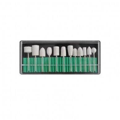 Elektrinė dildė nagams (nagų freza) HBS-401 iki 35000 RPM, baltos sp. 15