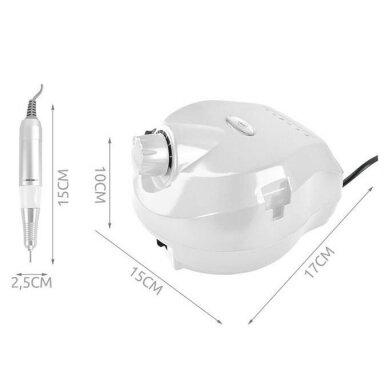 Elektrinė dildė nagams (nagų freza) HBS-401 iki 35000 RPM, baltos sp. 16