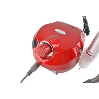 Elektrinė dildė nagams (nagų freza) HBS-401 iki 35000 RPM, raudonos sp. 2