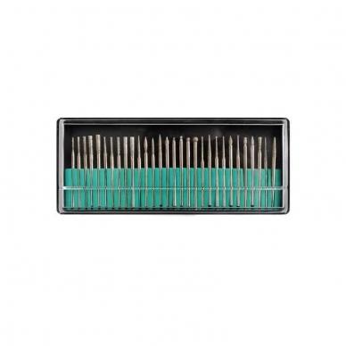 Elektrinė dildė nagams (nagų freza) HBS-401 iki 35000 RPM, raudonos sp. 11