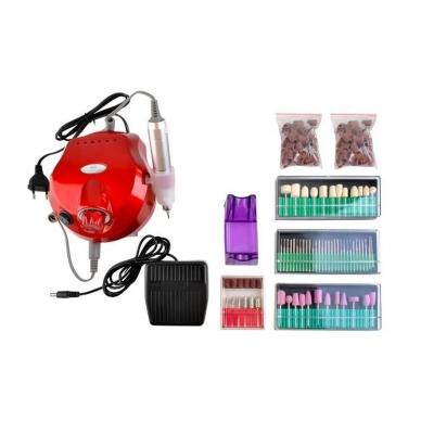 Elektrinė dildė nagams (nagų freza) HBS-401 iki 35000 RPM, raudonos sp. 15