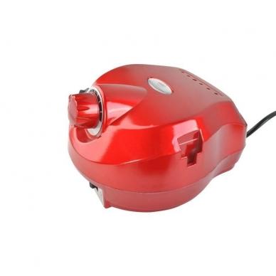 Elektrinė dildė nagams (nagų freza) HBS-401 iki 35000 RPM, raudonos sp. 3