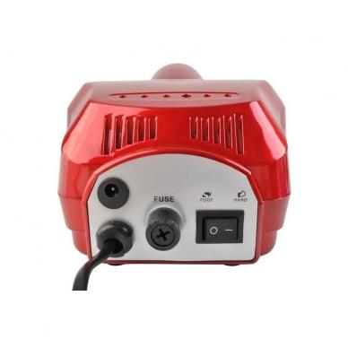 Elektrinė dildė nagams (nagų freza) HBS-401 iki 35000 RPM, raudonos sp. 4