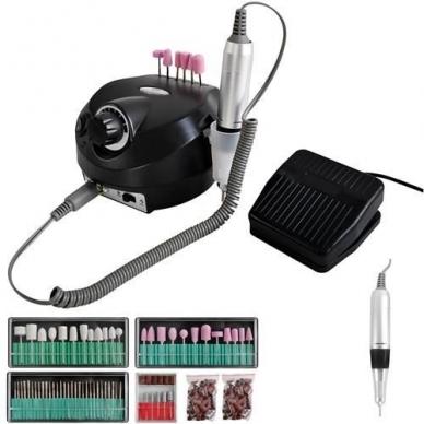 Elektrinė dildė nagams (nagų freza) HBS-401 iki 35000 RPM, juodos sp.