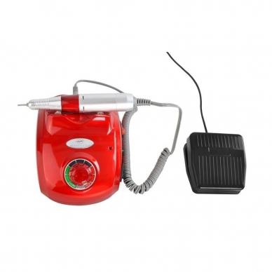 Elektrinė dildė nagams (nagų freza) HBS-402 iki 35000 RPM, raudonos sp. 2