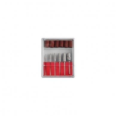 Elektrinė dildė nagams (nagų freza) HBS-402 iki 35000 RPM, raudonos sp. 12