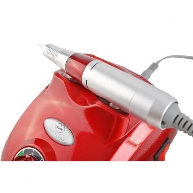 Elektrinė dildė nagams (nagų freza) HBS-402 iki 35000 RPM, raudonos sp. 3