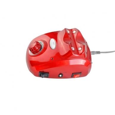 Elektrinė dildė nagams (nagų freza) HBS-402 iki 35000 RPM, raudonos sp. 4