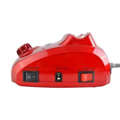 Elektrinė dildė nagams (nagų freza) HBS-402 iki 35000 RPM, raudonos sp. 5