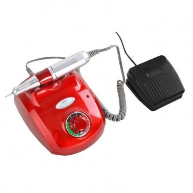 Elektrinė dildė nagams (nagų freza) HBS-402 iki 35000 RPM, raudonos sp. 6
