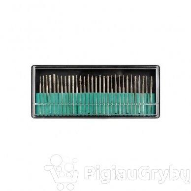 Elektrinė freza nagams su 60 antgalių iki 35000 RPM, auksinės sp. 12