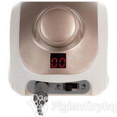 Elektrinė freza nagams su 60 antgalių iki 35000 RPM, auksinės sp. 3