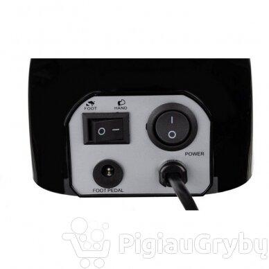 Elektrinė freza nagams su 60 antgalių iki 35000 RPM, juodos sp. 2