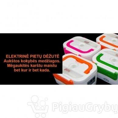 Elektrinė priešpiečių dėžutė, oranžinė 4