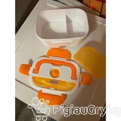 Elektrinė priešpiečių dėžutė, oranžinė 2