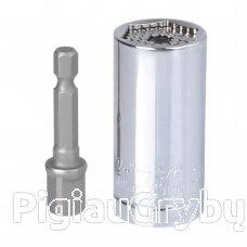 Galvutė universali 7-19 mm su adapteriu suktukui