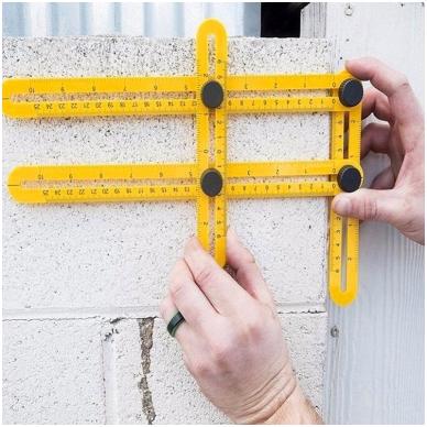 Įrankis - šablonas kampų supjovimui 7
