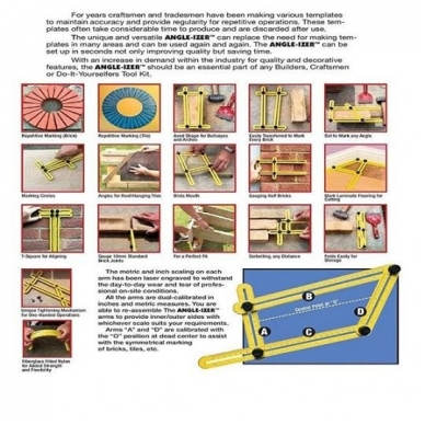 Įrankis - šablonas kampų supjovimui 10