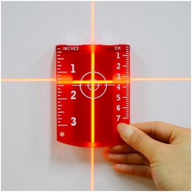 Lazerio taikinys, raudonas 4