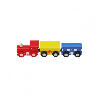 Medinis traukinys su bėgiais - 48 elementų žaislas 3