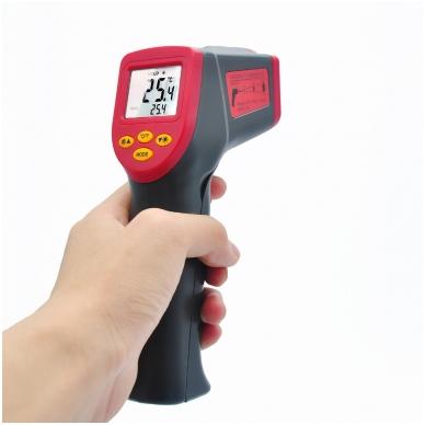 Skaitmeninis bekontaktis infraraudonųjų spindulių termometras -32 ~ 530 C 8