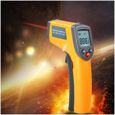 Skaitmeninis bekontaktis infraraudonųjų spindulių termometras -50 ~ 360 C