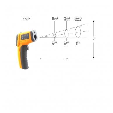 Skaitmeninis bekontaktis infraraudonųjų spindulių termometras -50 ~ 360 C 8