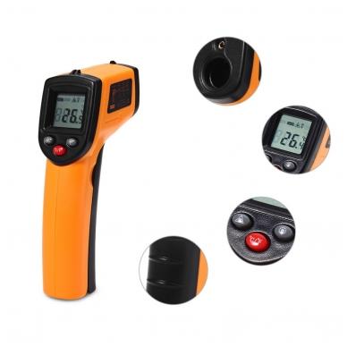 Skaitmeninis bekontaktis infraraudonųjų spindulių termometras -50 ~ 380 C 2