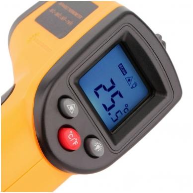 Skaitmeninis bekontaktis infraraudonųjų spindulių termometras -50 ~ 380 C 5