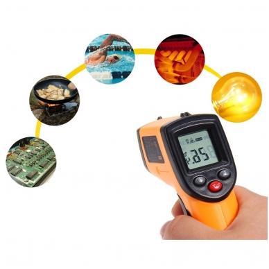 Skaitmeninis bekontaktis infraraudonųjų spindulių termometras -50 ~ 380 C 9