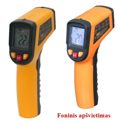 Skaitmeninis bekontaktis infraraudonųjų spindulių termometras -50 ~ 400 C 7