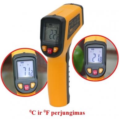 Skaitmeninis bekontaktis infraraudonųjų spindulių termometras -50 ~ 400 C 8