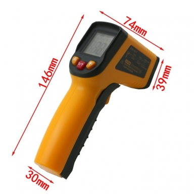 Skaitmeninis bekontaktis infraraudonųjų spindulių termometras -50 ~ 400 C 9