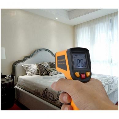 Skaitmeninis bekontaktis infraraudonųjų spindulių termometras -50 ~ 400 C 10